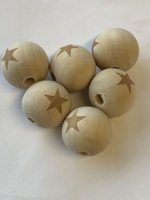 Tre perle med stjerne - 19mm