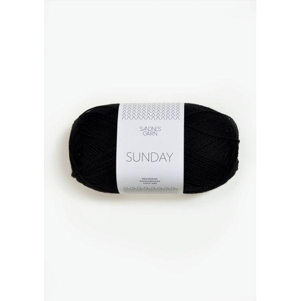 Sunday 1099 Svart - Sandnes Garn