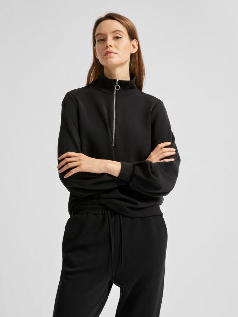 Tenny zip genser svart