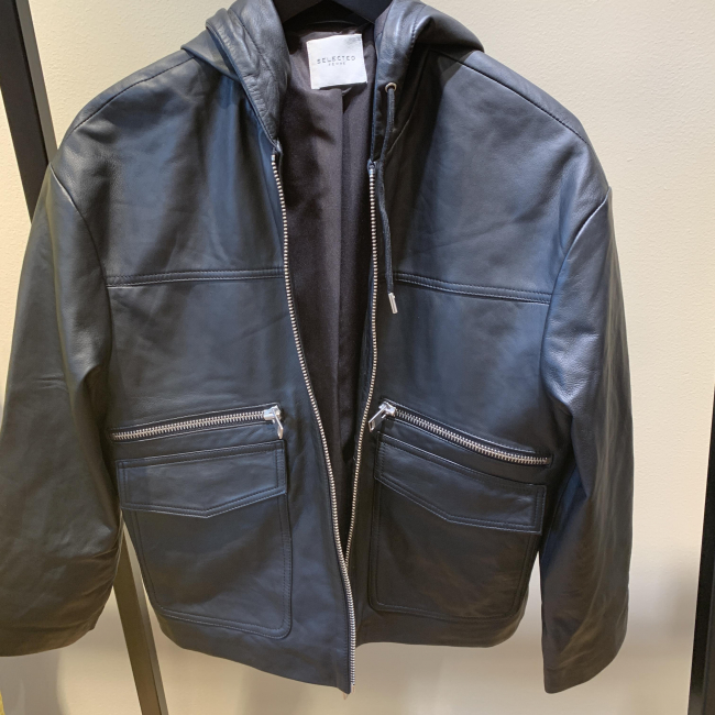 Diddi Hoodi Leather Jacket