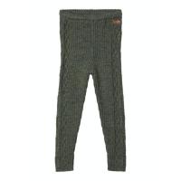 Wrilla strikket merinoull leggings grønn