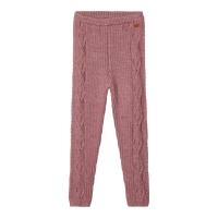Wrilla strikket merinoull leggings rosa