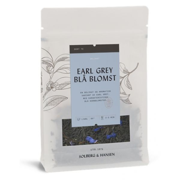 Blå blomst Earl Grey te