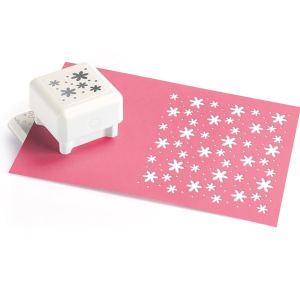 Punch All Over the Page-Flower Shower Pattern