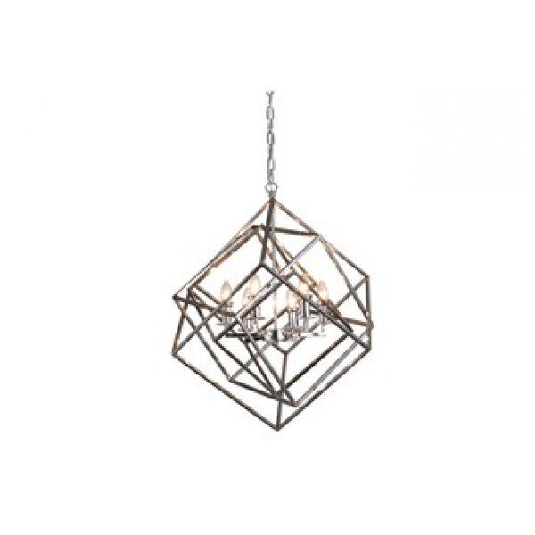 Taklampe Gent D70cm H78cm sølv