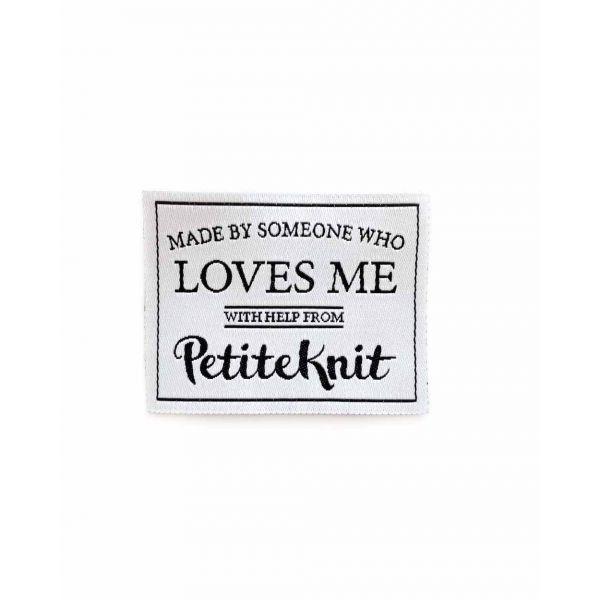 Merkelapp PetiteKnit - Made by someone who loves me