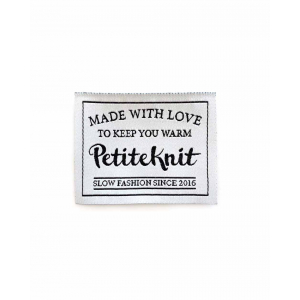 Merkelapp PetiteKnit - Made with love to keep you warm