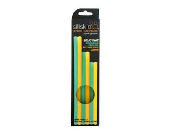 Silikids SILISKIN® Silikonsugerør 6pk Gull,Grønn