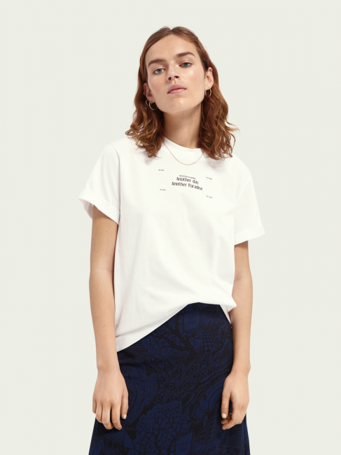 Relaxed fit tee with core graphic