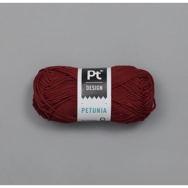 Petunia 257 Mørk rød - Rauma Garn