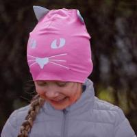 Morild Norway - Funkle Lue Med Refleks - Rosa Katt