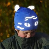 Morild Norway - Funkle Lue Med Refleks - Blå Katt