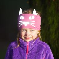 Morild Norway - Funkle Pannebånd Med Refleks - Rosa katt