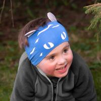 Morild Norway - Funkle Pannebånd Med Refleks - Blå Tiger
