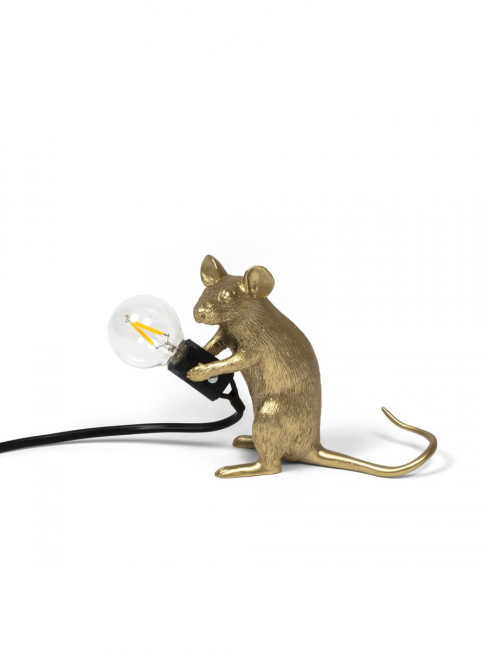 Seletti - Mouse Lamp Gold