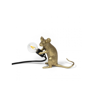 Seletti - Mouse Lamp Gold