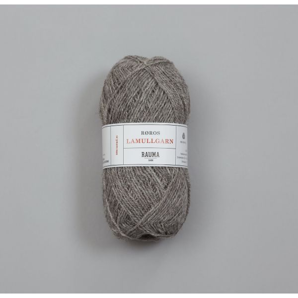 Rauma Garn Lamull - L13 Grå melert