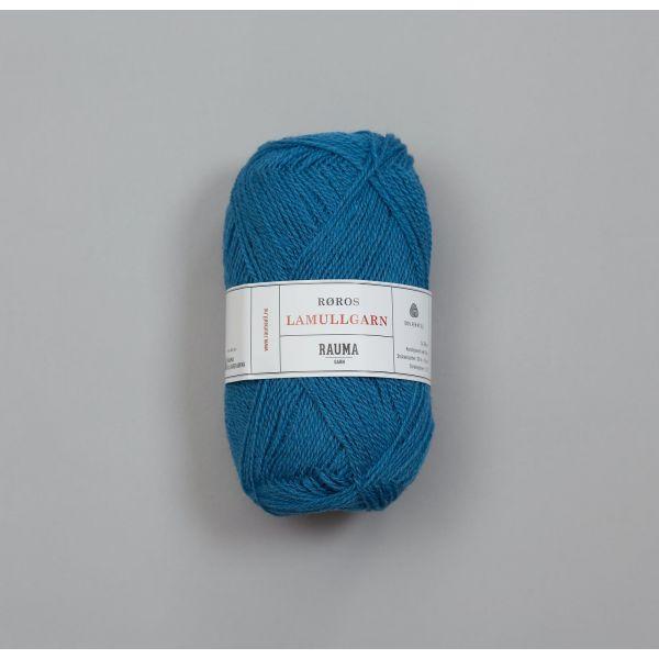 Rauma Garn Lamull - L67 Lys bondeblå