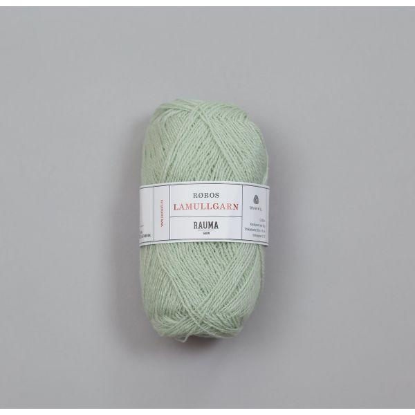Rauma Garn Lamull - L23 Lys mintgrønn