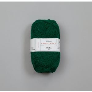 Rauma Garn Lamull - L94 Mørk grønn