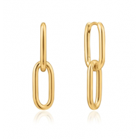 Gold Cable Link Earrings