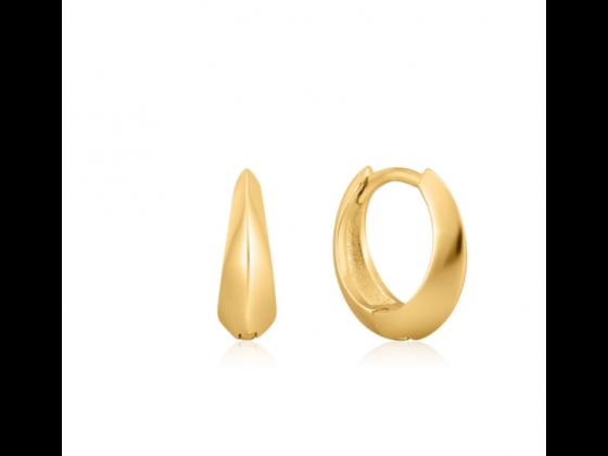 Gold Single Spike Huggie Hoop Earrings