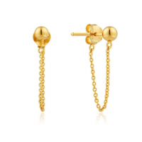 Gold Modern Chain Stud Earrings