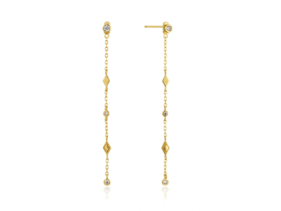 Gold Bohemia Shimmer Drop Earrings