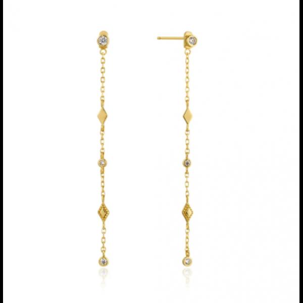 Gold Bohemia Shimmer Drop Earrings