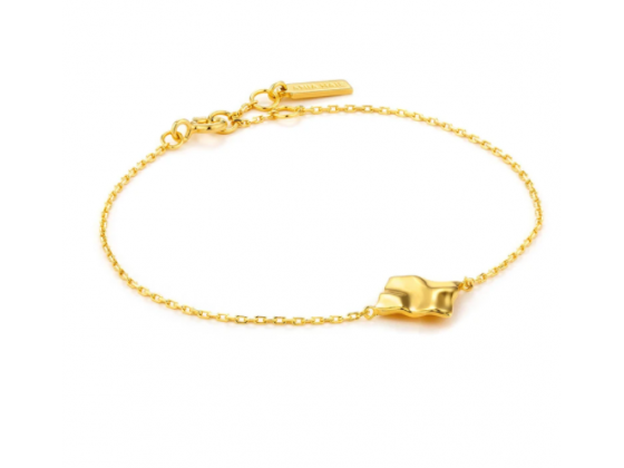 Gold Crush Square Bracelet