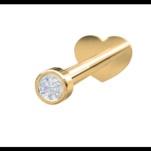 14 Kt. - Diamant RUND (Flatback)