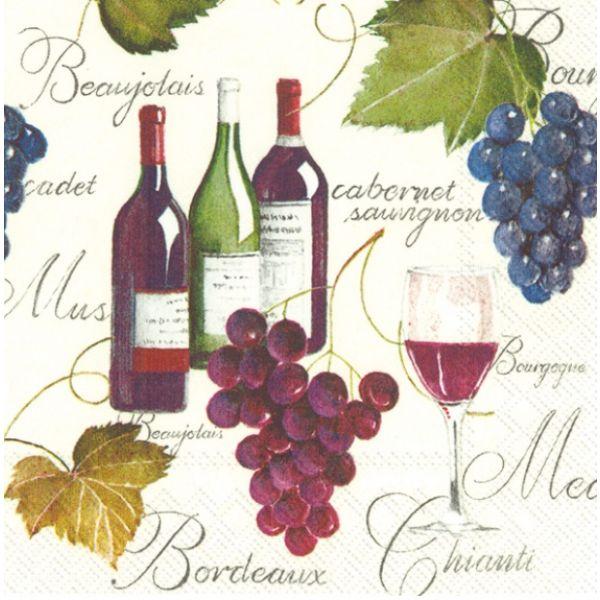 """""""Bordeaux"""" cocktailserviett"""