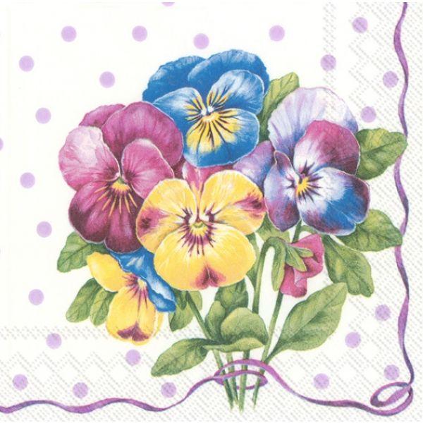 """Purple Pansy"" kaffeserviett"
