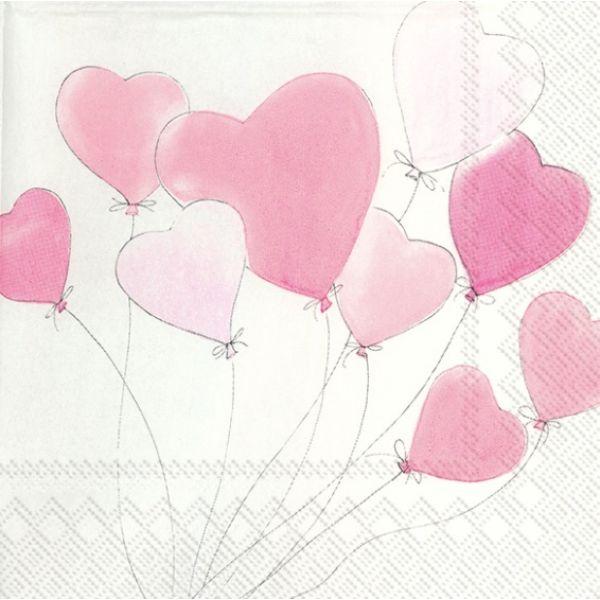 """Love is in the Air"" kaffeserviett"
