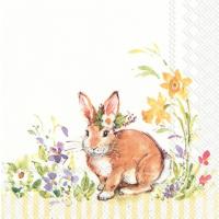 "Servietter, ""Lovely bunny yellow"""