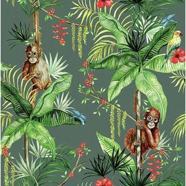 """""""Orangutan Green"""" lunsjserviett"""