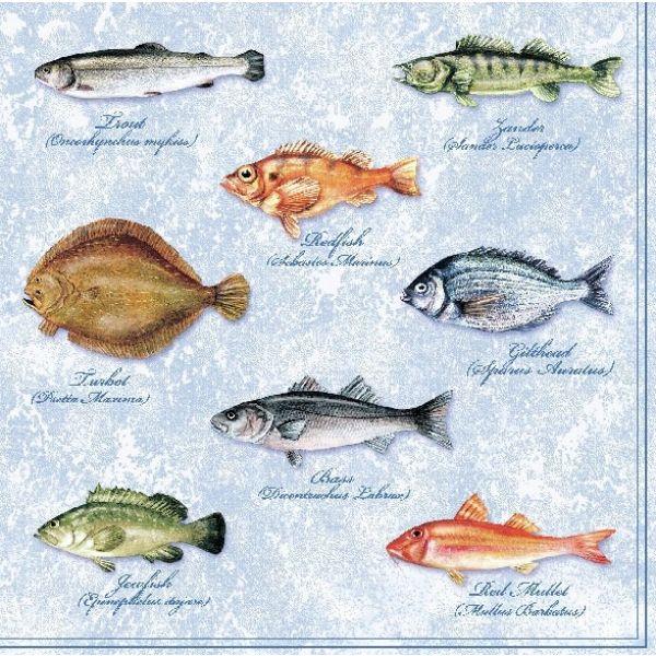 """Fishes"" lunsjserviett"