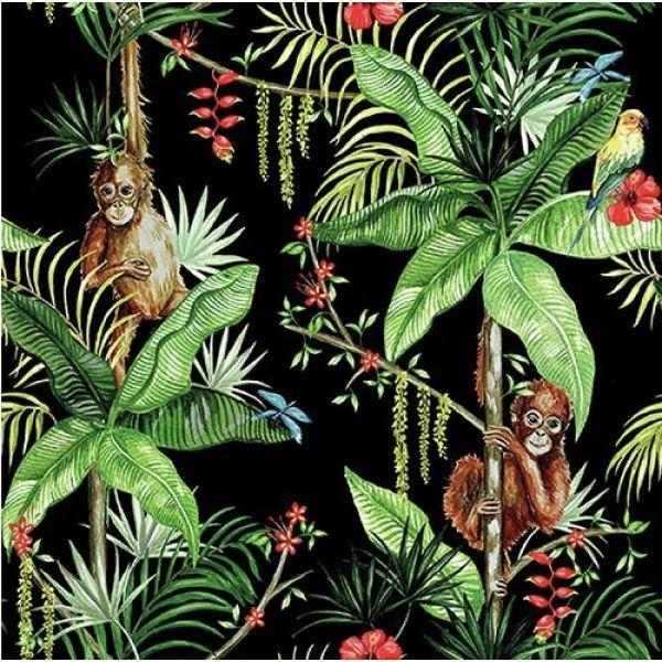 """Orangutan Black"" lunsjserviett"