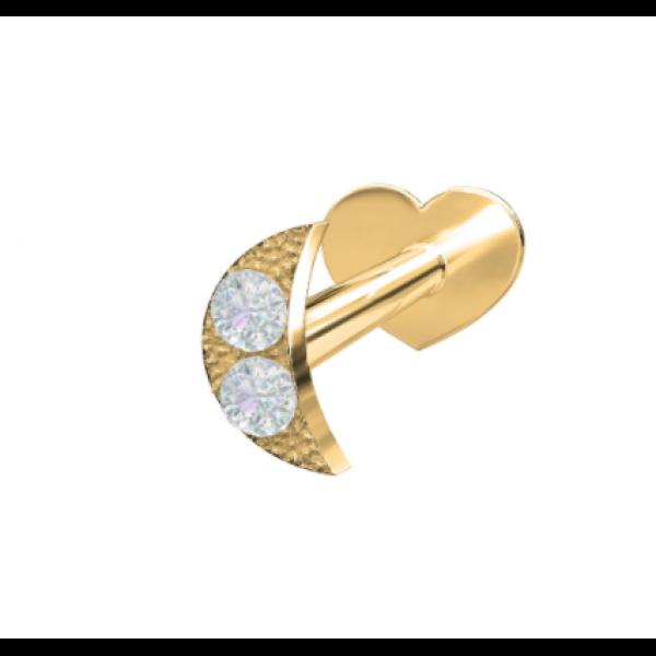 14 kt. - Diamant Måne (Flatback)