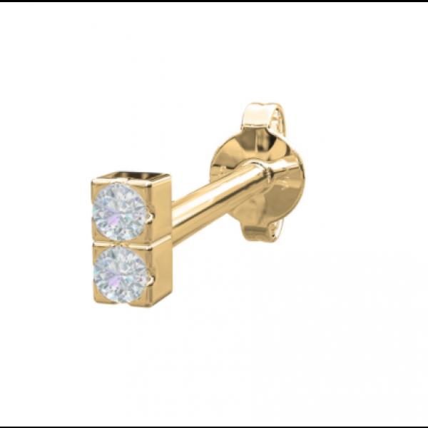 14.kt - 2 diamanter