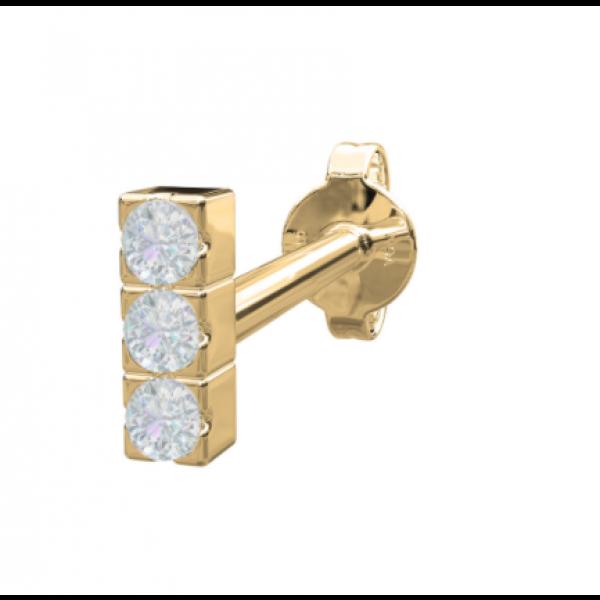 14.kt - 3 diamanter