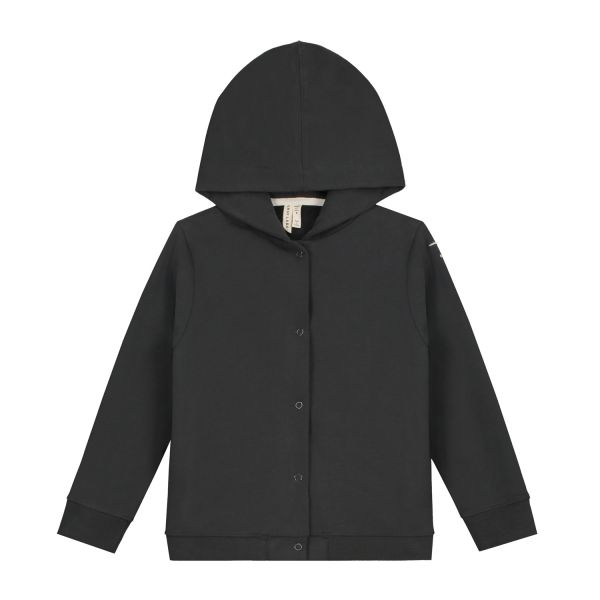 GRAY LABEL - HOODED CARDIGAN NEARLY BLACK