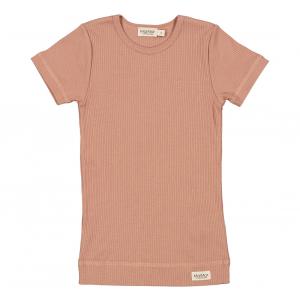 MARMAR - T-SKJORTE PLAIN MODAL ROSE BROWN