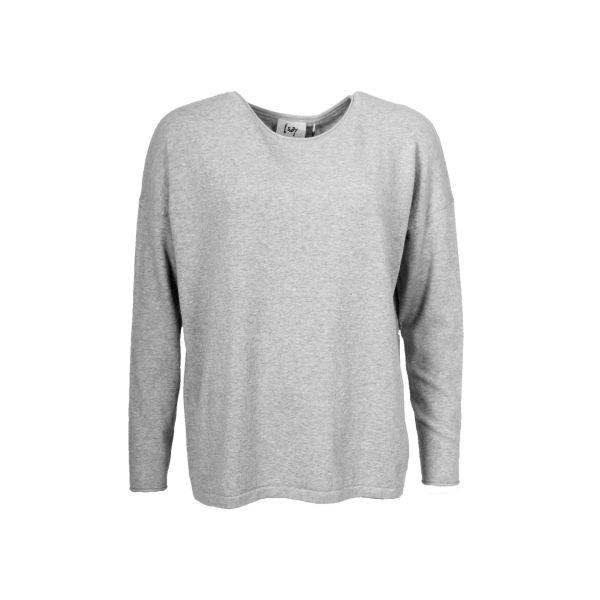 Frigga Lg Grey Knit Pullover