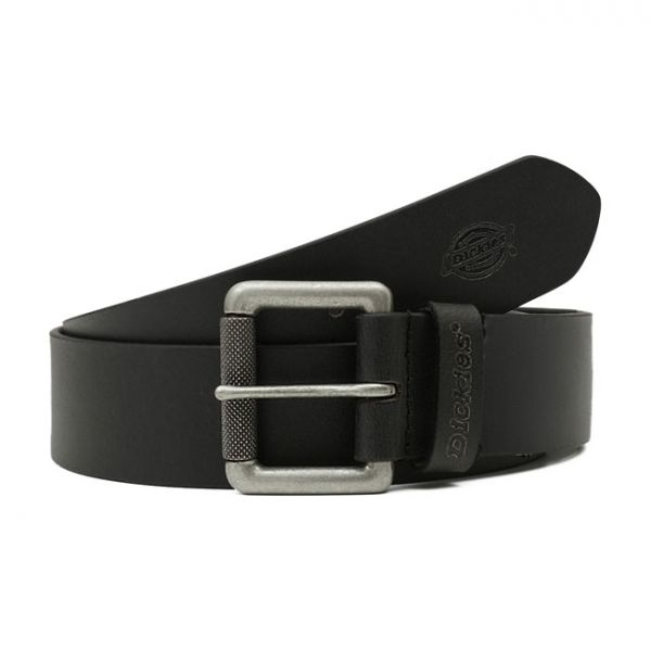 DICKIES SOUTH SHORE LEATHER BELT BLACK