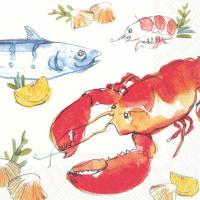 """""""Fish and Lobster"""" lunsjserviett"""