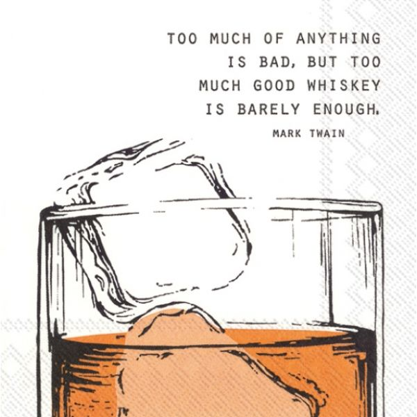 """Good Whiskey"" cocktailserviett"