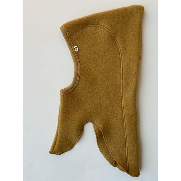 Ull fleece balaclava i fargen MUSTARD - av Müsli by Green Cotton