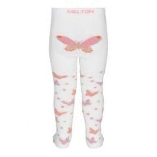 Melton strømpebukse Audrey med sommerfugler