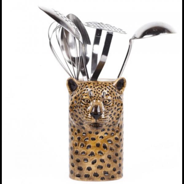 Leopard vase/redskapsholder - Quail Ceramics